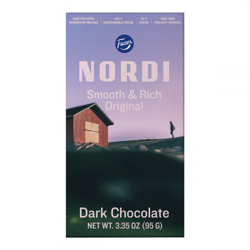 Fazer Nordi Smooth & Rich Dark Chocolate Bar