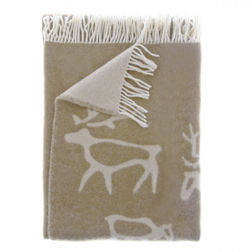 Pentik Saaga Brown Wool Blanket