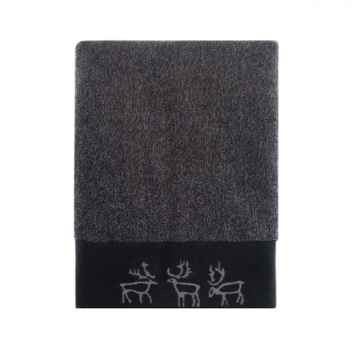 Pentik Saaga Dark Grey Bath Towel