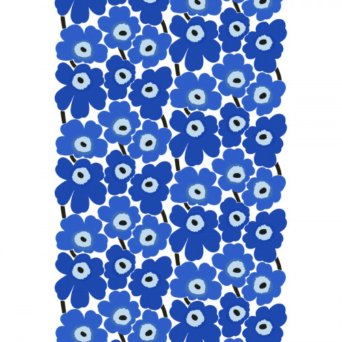 Marimekko Pieni Unikko Blue Cotton Fabric