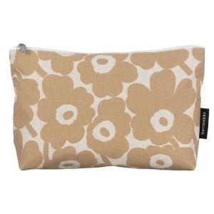 Marimekko Unikko Beige Relle Cosmetic Bag