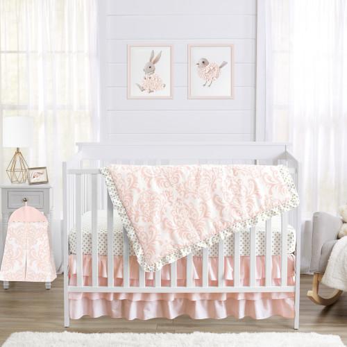 Amelia 4 Piece Bumperless Crib Bedding Collection