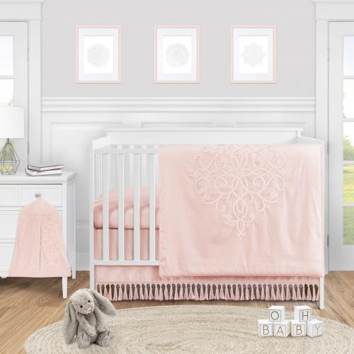 Bohemian Pink Collection 4 Piece Crib Bedding