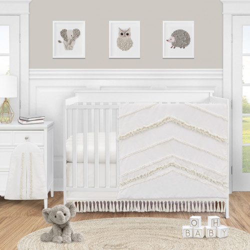 Boho Fringe Collection 4 Piece Crib Bedding