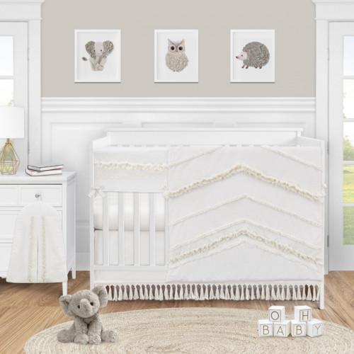 Boho Fringe Collection 5 Piece Crib Bedding