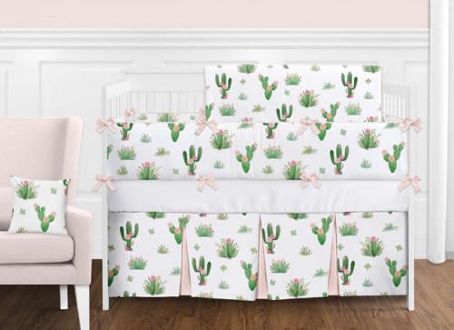 Cactus Floral 9 Piece Crib Bedding Collection