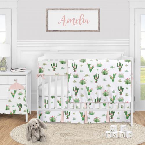 Cactus Floral Collection 5 Piece Crib Bedding