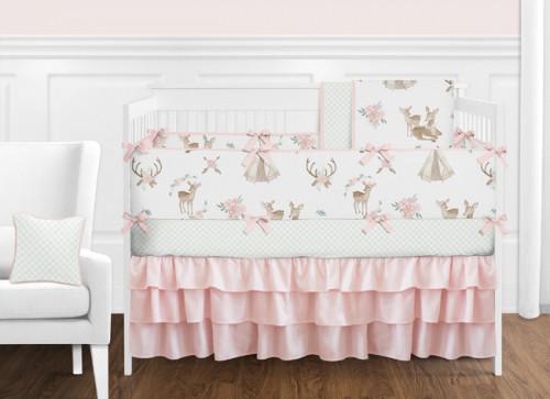 Deer Floral 9 Piece  Crib Bedding Collection