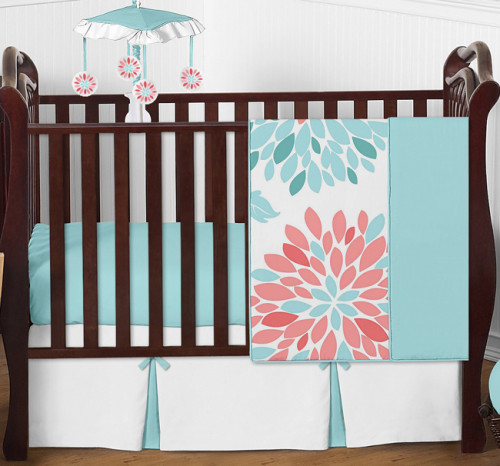 Emma Collection 4 Piece Crib Bedding