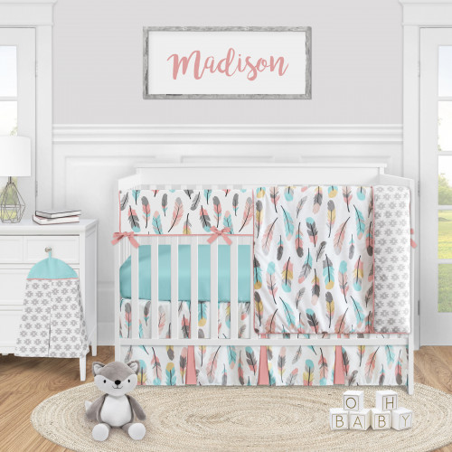 Feather Collection 5 Piece Crib Bedding