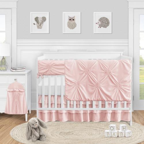 Harper Blush Pink Collection 5 Piece Crib Bedding