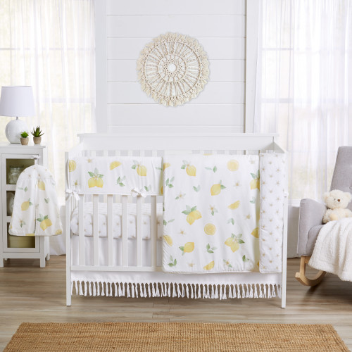 Lemon Collection 5 Piece Crib Bedding