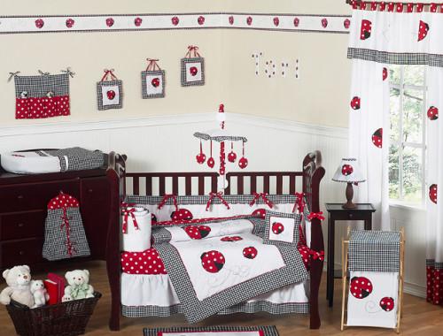 Little Ladybug 9 Piece Crib Bedding Collection