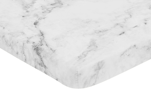 Marble Black and White Collection Mini Crib Sheet