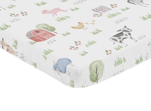 Farm Animals Collection Mini Crib Sheet