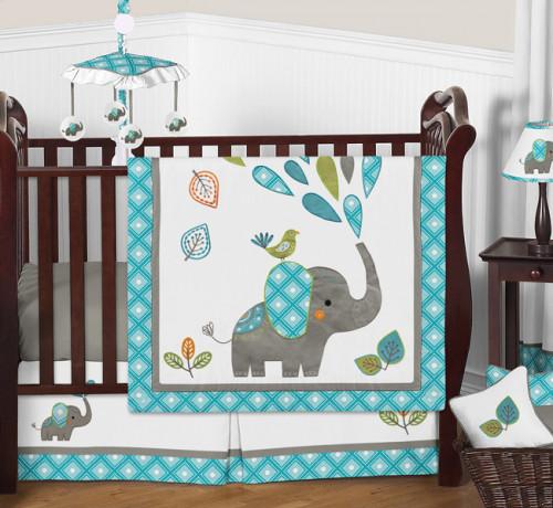 Mod Elephant 11 Piece Bumperless Crib Bedding Collection