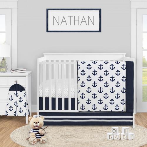 Sailor Collection 4 Piece Crib Bedding