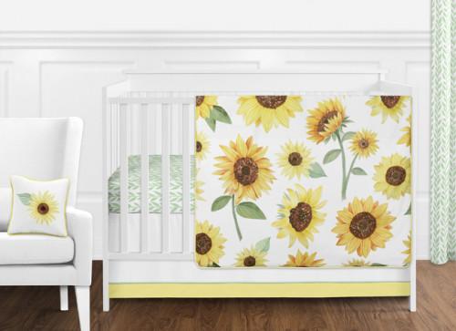 Sunflower Collection 11 Piece Bumperless Crib Bedding