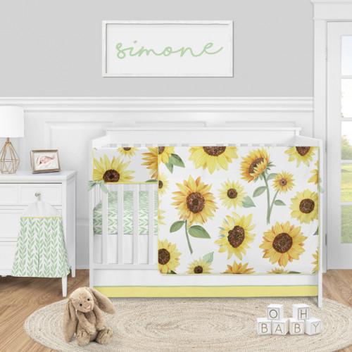 Sunflower Collection 5 Piece Crib Bedding