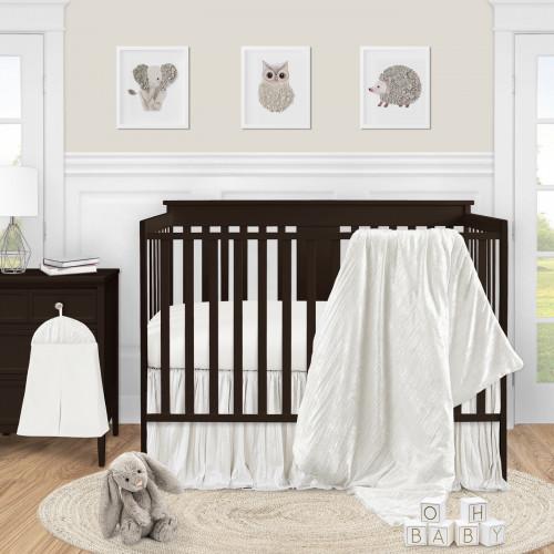 Velvet Ivory Collection 4 Piece Crib Bedding