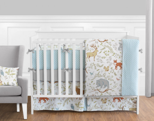 Woodland Toile 9 Piece Crib Bedding Collection