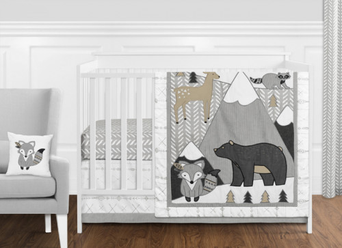 Woodland Friends Collection 11 Piece Bumperless Crib Bedding