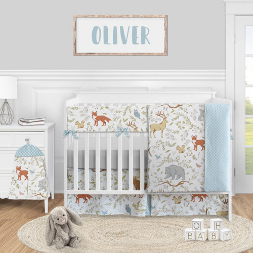 Woodland Toile Collection 5 Piece Crib Bedding