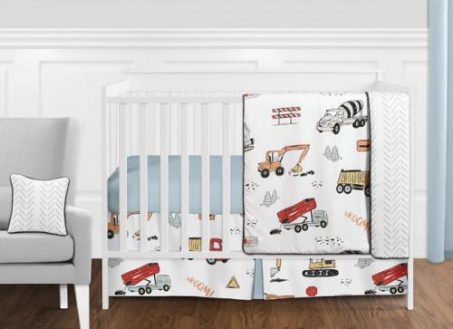 Construction Truck Collection 11 Piece Bumperless Crib Bedding
