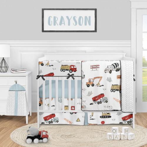 Construction Truck Collection 5 Piece Crib Bedding