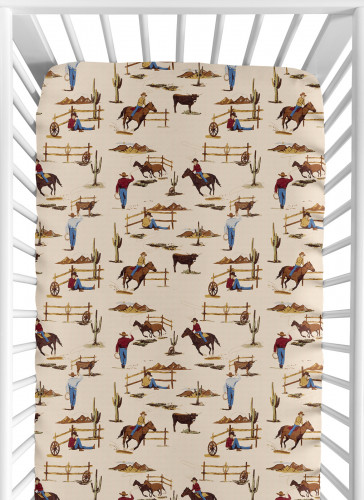 Wild West Collection Jersey Knit Crib Sheet