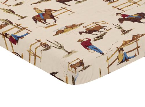 Wild West Collection Mini Crib Sheet