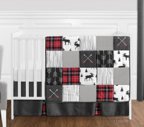 Rustic Patch Collection 4 Piece Bumperless Crib Bedding