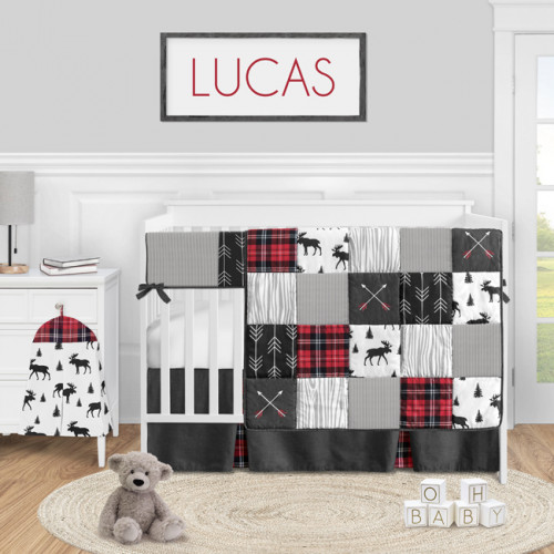 Rustic Patch Collection 5 Piece Crib Bedding