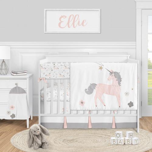 Unicorn Collection 5 Piece Crib Bedding