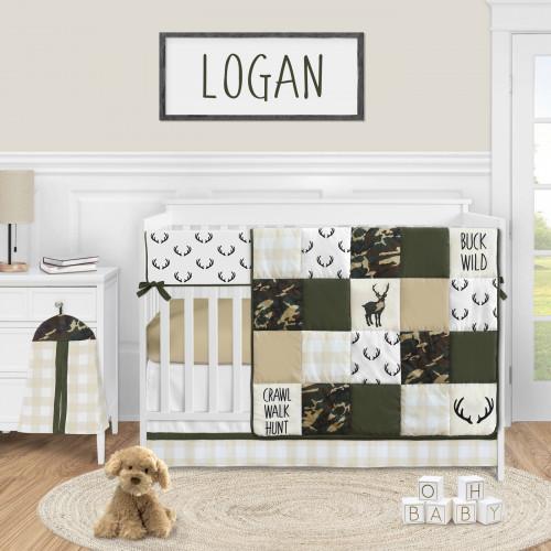 Woodland Camo Collection 5 Piece Crib Bedding